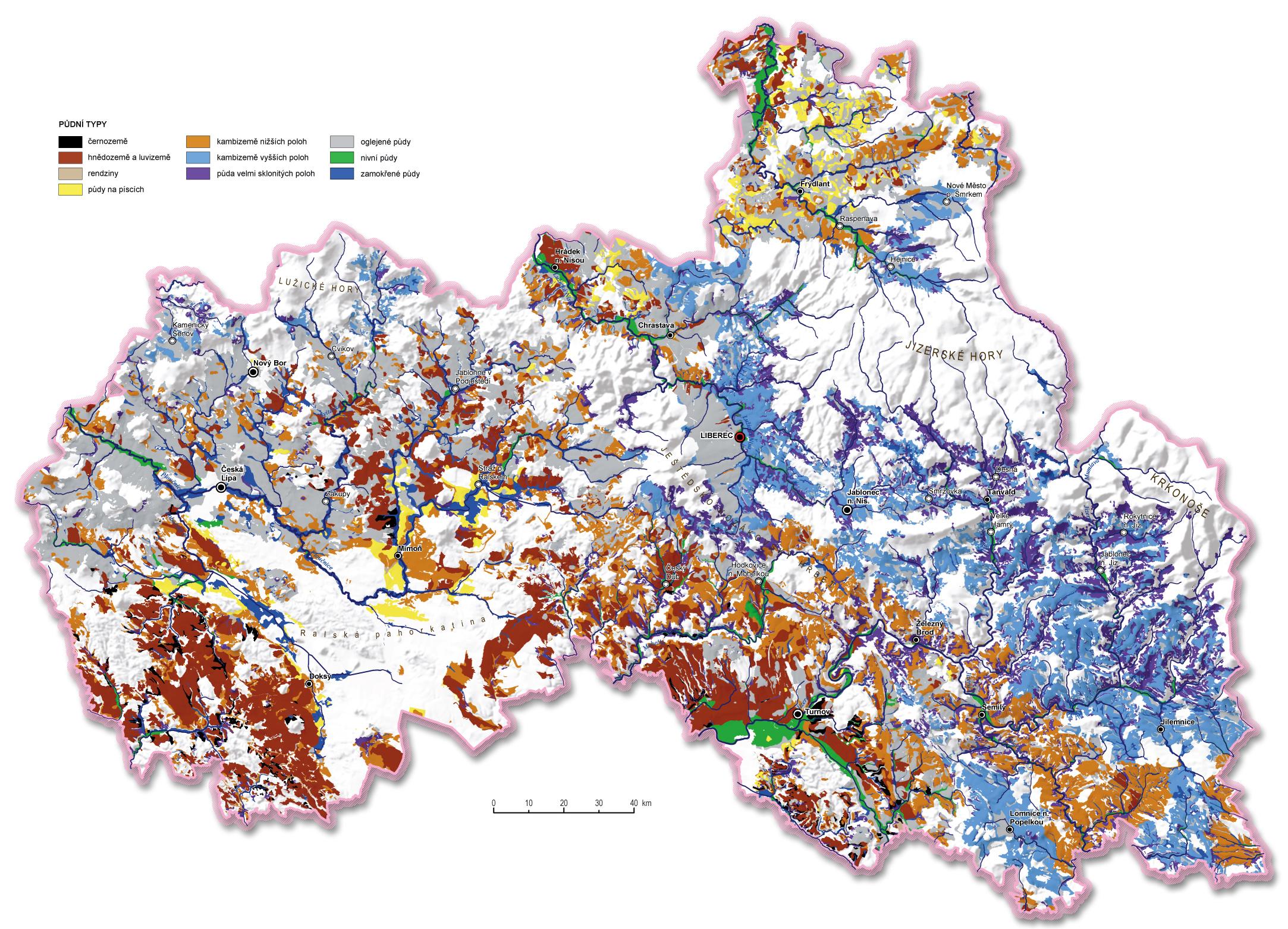 Pudy A Pudni Typy Geoportal Libereckeho Kraje